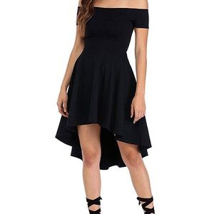 Dresses & Skirts - Off The Shoulder Short Sleeve High Low Cocktail